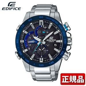 EDIFICE エディフィス CASIO カシオ ソーラー EQB-800DB-1AJF アナログ メンズ 腕時計 国内正規品 黒 ブラック 青 ブルー 銀 シルバー メタル|tokeiten