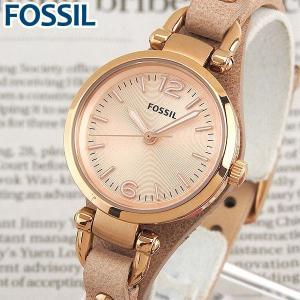 FOSSIL フォッシル ES3262 海外モデル アナログ レディース 腕時計 ウォッチ 金 ピンクゴールド 革バンド レザー カジュアル ギフト|tokeiten