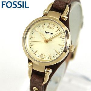 FOSSIL フォッシル ES3264 ジョージア 海外モデル アナログ レディース 腕時計 ウォッチ 茶 ブラウン 金 ゴールド 革バンド レザー|tokeiten
