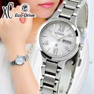 シチズン クロスシー 腕時計 レディース ソーラー カレンダー 10気圧防水 メタルバンド ビジネス CITIZEN Xc EW3220-54A|tokeiten