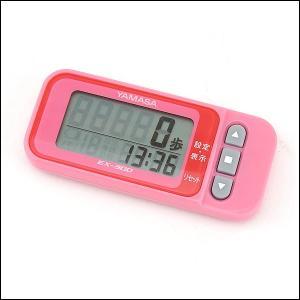 ポイント10倍 山佐時計計器 YAMASA ポケット万歩 EX-300P らくらくまんぽ ピンク 万歩計 歩数計|tokeiten