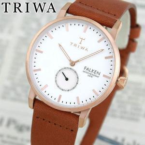 TRIWA トリワ FAST101-CL010214 ROSE FALKEN 海外モデル アナログ レディース 腕時計 白 ホワイト 金 ピンクゴールド 革バンド レザー|tokeiten