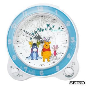 SEIKO セイコークロック  キャラクター くまのプーさん FD462W 国内正規品 キッズ 子供用 ディズニー 目覚まし めざまし 目覚し 置時計 スヌーズ tokeiten