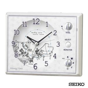 SEIKO セイコークロック  キャラクター ミッキー&フレンズ FD478W 国内正規品 目覚まし 目覚し めざまし 時計 置時計 ディズニー モノクロ メロディー tokeiten