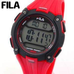 FILA フィラ 38-094-003 デジタル メンズ 腕時計 海外モデル 黒 ブラック 赤 レッド ウレタン カジュアル|tokeiten