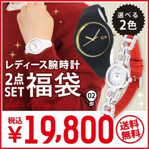 ポイント最大26倍 福袋 2017 COACH コーチ 14501853 + ice watch アイスウォッチ ICE.GL.WRG.S.S.14 ICE.GL.BK.S.S.14 ブラック ホワイト レディース 腕時計|tokeiten