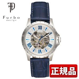 Furbo design フルボデザイン F5021SSIBL メンズ 腕時計 ウォッチ レザー バ...