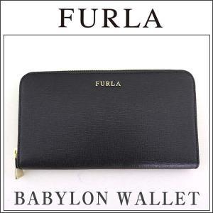 FURLA フルラ BABYLON バビロン 755244 ラウンドファスナー長財布 財布 ブラック 黒 レディース tokeiten