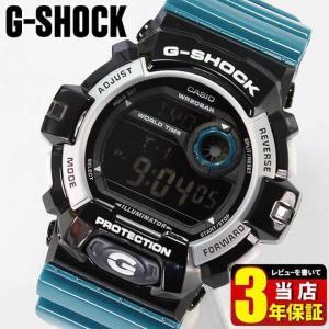 BOX訳あり レビュー3年保証 カシオ CASIO G-SHOCK Gショック ジーショック クレイジーカラーズ メンズ 腕時計 海外モデル G-8900SC-1B BIG CASE 黒 青|tokeiten