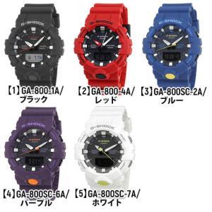 BOX訳あり G-SHOCK Gショック カシオ GA-800-4A アナデジ メンズ レディース 20気圧防水  カレンダー 腕時計 黒 ブラック 赤 レッド|tokeiten|02
