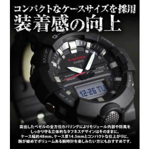 BOX訳あり G-SHOCK Gショック カシオ GA-800-4A アナデジ メンズ レディース 20気圧防水  カレンダー 腕時計 黒 ブラック 赤 レッド|tokeiten|05