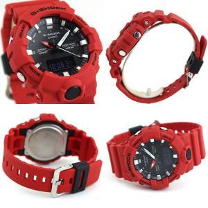 BOX訳あり G-SHOCK Gショック カシオ GA-800-4A アナデジ メンズ レディース 20気圧防水  カレンダー 腕時計 黒 ブラック 赤 レッド|tokeiten|06
