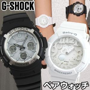 当店限定 ペアウォッチ ブランド 1年保証 メンズ レディース 腕時計 CASIO カシオ G-SHOCK Gショック AWG-M100S-7A Baby-G ベビーG BGA-131-7B|tokeiten