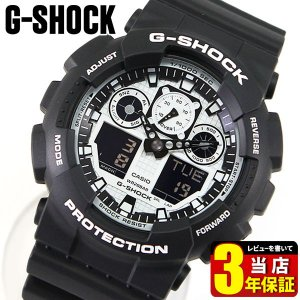 G-SHOCK Gショック CASIO カシオ ホワイト&ブラックシリーズGA-100BW-1A メンズ 腕時計アナログ 黒 ブラック 海外モデル tokeiten