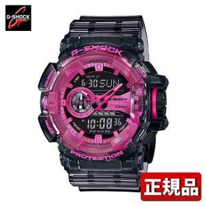 G-SHOCK Gショック CASIO カシオ GA-400SK-1A4JF Clear Skeleton クリアスケルトン アナログ デジタル メンズ 腕時計 国内正規品 黒 ブラック ピンク ウレタン|tokeiten