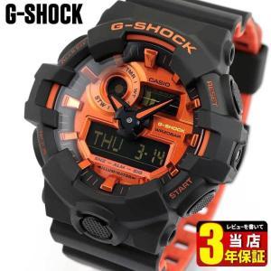 BOX訳あり G-SHOCK Gショック CASIO カシオ GA-700BR-1A オレンジ×マットブラック アナログ デジタル メンズ 腕時計 海外モデル ウレタン|tokeiten