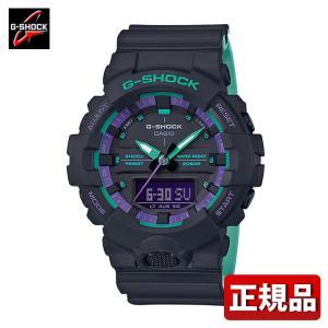 G-SHOCK Gショック CASIO カシオ GA-800BL-1AJF アナログ デジタル メンズ 腕時計 国内正規品 黒 ブラック 紫 パープル ウレタン tokeiten