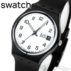 SWATCH スウォッチ GB743 ONCE AGAIN ワンス・アゲイン レディース 腕時計 ブラック ホワイト 黒 白|tokeiten
