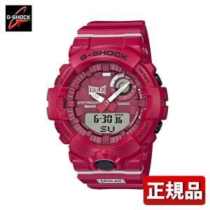 G-SHOCK Gショック CASIO カシオ GBA-800EL-4AJR EVERLAST コラボモデル G-SQUAD アナログ デジタル メンズ 腕時計 国内正規品 白 ホワイト 赤 レッド ウレタン tokeiten