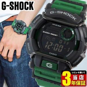 ミリタリー カシオ G-SHOCK Gショック メンズ 腕時計 緑 グリーン GD-400-3 逆輸入|tokeiten