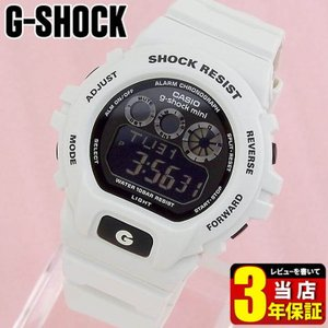 G-SHOCK CASIO g-shock mini デジタル レディース 腕時計 黒 ブラック 白 ホワイト ウレタン スポーツ メーカー1年保証 GMN-691-7AJF 国内正規品 tokeiten