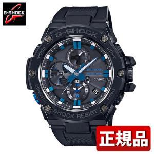 G-SHOCK Gショック CASIO カシオ タフソーラー GST-B100BNR-1AJR モバイルリンク機能 メンズ 腕時計 国内正規品 黒 ブラック 青 ブルー ウレタン tokeiten