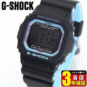 G-SHOCK Gショック CASIO カシオ 電波ソーラー GW-M5610PC-1 デジタル メンズ 腕時計 海外モデル 黒 ブラック 青 ブルー ウレタン|tokeiten