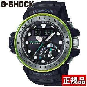 CASIO カシオ G-SHOCK Gショック タフソーラー 多機能 GWN-Q1000MB-1AJF 国内正規品 MASTER OF G アナログ デジタル メンズ 腕時計 黒 ブラック 緑 グリーン tokeiten