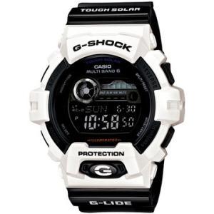 G-SHOCK Gショック ジーショック 電波ソーラー G-LIDE GWX-8900B-7JF 腕時計 ホワイト 白 ブラック 黒 国内正規品 国内モデル メンズ デジタル|tokeiten