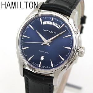 HAMILTON ハミルトン H32505741 海外モデル ジャズマスター デイデイト メンズ 腕時計 ウォッチ 自動巻き 黒 ブラック 青 ネイビー 革バンド レザー tokeiten