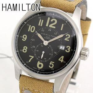 HAMILTON ハミルトン 機械式 メカニカル 自動巻き H70655733 海外モデル オフィサー オート メンズ 腕時計 ブラック ブラウン カーキ 革バンド レザー|tokeiten