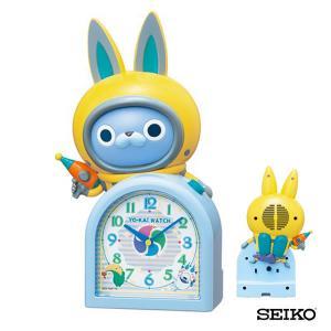 SEIKO セイコークロック  キャラクター 妖怪ウォッチ USAピョン ウサピョン JF380A 国内正規品 キッズ 子供用 おしゃべり目覚まし 目覚し めざまし 置時計 tokeiten