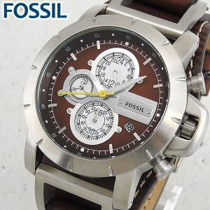 FOSSIL フォッシル JR1157 海外モデル アナログ メンズ 腕時計 ウォッチ 茶 ブラウン 銀 シルバー 革バンド レザー|tokeiten