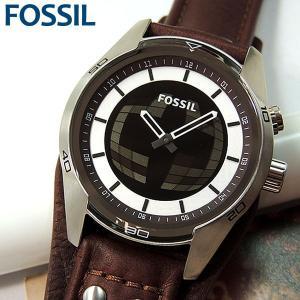 FOSSIL フォッシル COACHMAN BIG TICK コーチマン ビッグチック 腕時計 メンズ 新品 レザー アナログ JR1471 海外モデル シルバー ブラウン 茶 楽しい デジタル|tokeiten
