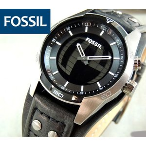 FOSSIL フォッシル 腕時計 メンズ ウォッチ 新品 ブラック 黒 レザー アナログ デジタル秒表示 JR1472 海外モデル|tokeiten