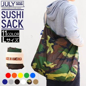 JULY NINE ジュライナイン Sushi Sack スシサック Lサイズ カモ メンズ レディース  ユニセックス ナイロン エコバッグ 折りたたみ トートバッグ ママバッグ|tokeiten