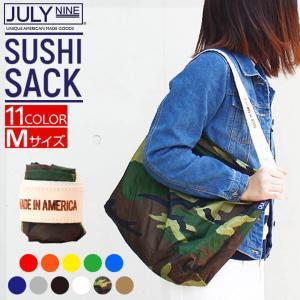 JULY NINE ジュライナイン Sushi Sack スシサック Mサイズ カモ メンズ レディース  ユニセックス ナイロン トートバッグ エコバッグ 折りたたみ|tokeiten