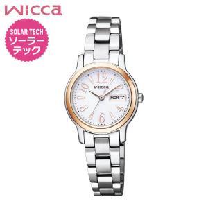 ポイント最大35倍 レビュー7年保証 シチズン ウィッカ 腕時計 レディース ソーラー かわいい CITIZEN wicca KH3-436-11 国内正規品 メタル ブレスレット|tokeiten