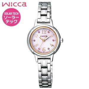 ポイント最大35倍 レビュー7年保証 シチズン ウィッカ 腕時計 レディース ソーラー かわいい CITIZEN wicca ソーラー ピンク ピンクゴールド KH9-914-93|tokeiten