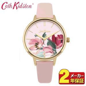 送料無料 Cath Kidston キャスキッドソン CKL050PG アナログ レディース 腕時計 海外モデル 赤 レッド ピンク ゴールド 花柄 革ベルト レザー|tokeiten