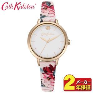 送料無料 Cath Kidston キャスキッドソン CKL064PRG レディース 腕時計 海外モデル 白 ホワイト 赤 レッド ピンク ピンクゴールド 花柄 革ベルト レザー|tokeiten