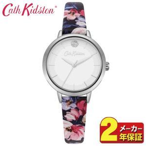 送料無料 Cath Kidston キャスキッドソン CKL064U レディース 腕時計 海外モデル 白 ホワイト 赤 レッド 青 ネイビー ピンク シルバー 花柄 革ベルト レザー|tokeiten