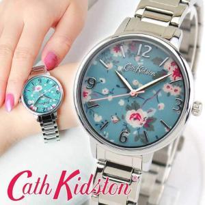 Cath Kidston キャスキッドソン CKL001SM トレイリングローズ 36mm アナログ レディース 腕時計 海外モデル シルバー ブルー ピンク メタル|tokeiten