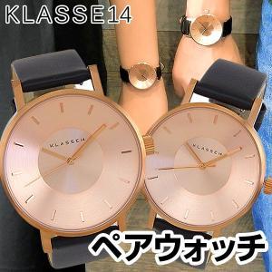 Klasse14 クラスフォーティーン ペアウォッチ アナログ メンズ レディース 腕時計 VO14RG001M VO14RG001W 黒 ブラック ピンクゴールド レザー|tokeiten