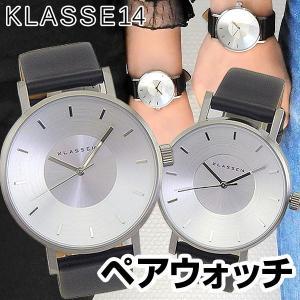 Klasse14 クラスフォーティーン Volare ヴォラーレ クラス14 アナログ メンズ レディース 腕時計 海外モデル 黒 ブラック 銀 シルバー 革ベルト ペアウォッチ|tokeiten