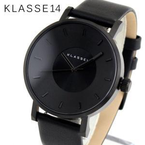 Klasse14 クラス14 KLASSE14 VO14BK002M 海外モデル Volare アナログ メンズ レディース 腕時計 黒 ブラック 革バンド レザー|tokeiten