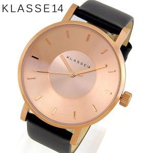 Klasse14 クラスフォーティーン VO14RG001M Volare ヴォラーレ アナログ メンズ レディース 腕時計 ユニセックス 海外モデル 黒 ブラック ピンクゴールド レザー|tokeiten