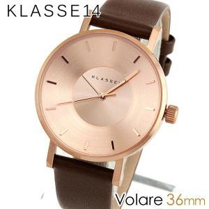 Klasse14 クラス14 KLASSE14 VO14RG002W 海外モデル Volare アナログ レディース 腕時計 ウォッチ 茶 ブラウン 金 ピンクゴールド 革バンド レザー 36mm|tokeiten