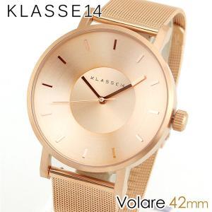 Klasse14 クラス14 KLASSE14 VO14RG003M 海外モデル Volare アナログ メンズ レディース 腕時計 男女兼用 ユニセックス 金 ピンクゴールド メタル バンド 42mm|tokeiten