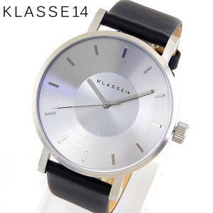 Klasse14 クラスフォーティーン VO14SR001M Volare ヴォラーレ アナログ メンズ レディース 腕時計 ユニセックス 海外モデル 黒 ブラック 銀 シルバー レザー|tokeiten